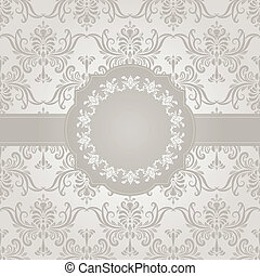 vector seamless vintage wallpaper pattern on gradient...