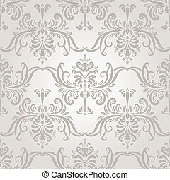 Vector Seamless Vintage Wallpaper Pattern - vector seamless ...