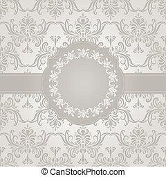 vector seamless vintage wallpaper pattern on gradient...