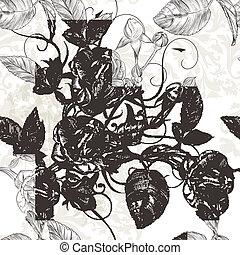 Vector seamless wallpaper pattern