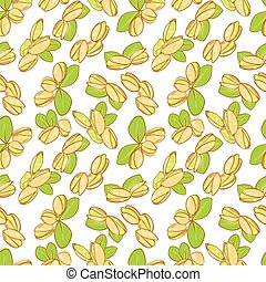 pistachio - vector seamless wallpaper with a picture of ...
