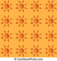 Vector seamless wallpaper with suns