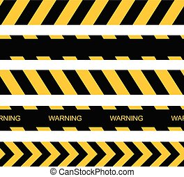 Vector seamless warning tapes. Vector caution lines.