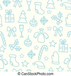 Vector Seamless Winter Pattern Background with christmas elements