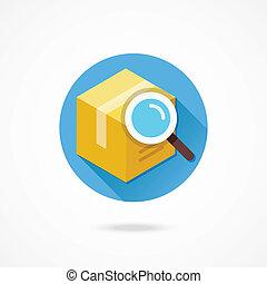 Vector Search Box Icon