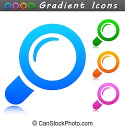 Vector search concept icon symbol