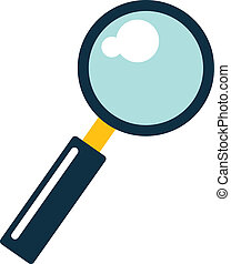 Vector Search Flat Icon