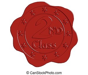 Vector Second Class Red Wax Seal
