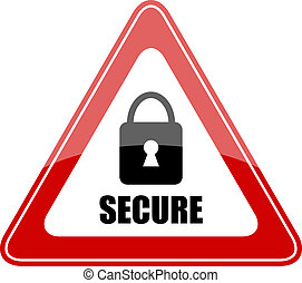 Vector secure sign isolated on white