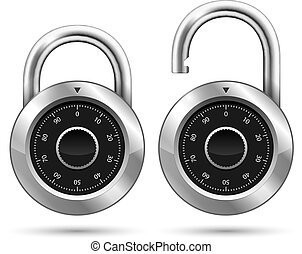 Vector Security Padlock Icon isolated on white