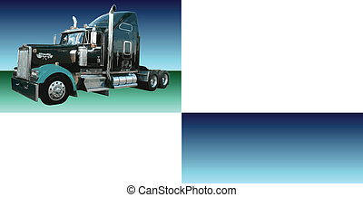 Vector Semi Tractor Trailer 18 Wheeler
