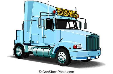 Vector  semi-truck