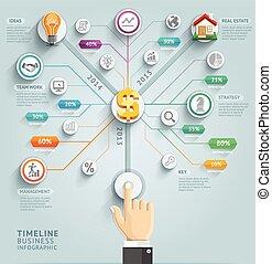 vector, ser, utilizado, illustration., diagrama, workflow,...