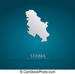 vector Serbia Map card paper