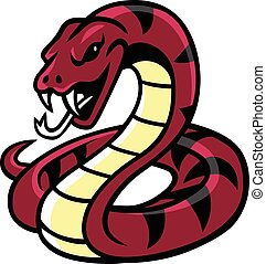 vector, serpiente, mascota