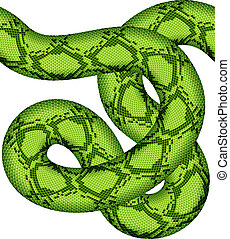 vector, serpiente verde, seamless