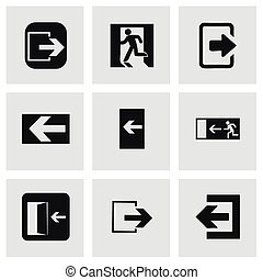vector, set, afslaf, iconen