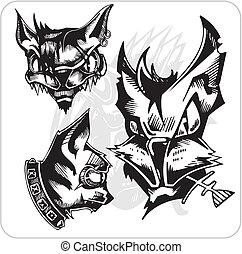 Vector Set - Aggressive Cats.