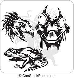 Vector Set - Aggressive Creatures.