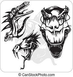 Vector Set - Aggressive Dragon.