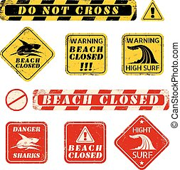 beach danger signs