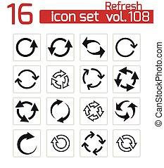 vector, set, black , verversen, iconen