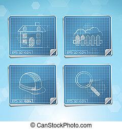 Vector Set: Blueprint Icons