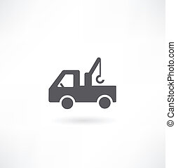 vector, set, bouwsector, 5, machines