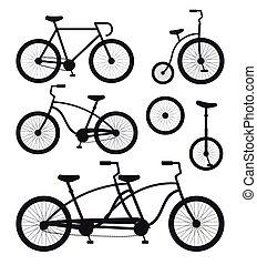 Vector set bundle of flat bicycle silhouette