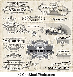 Vector Set: Calligraphic Design Elements and Page Decoration, Vintage Frame collection