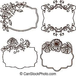 Vector set. calligraphic vintage design elements