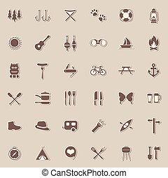 vector set camping icons,