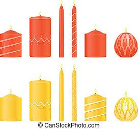 Vector set candles  - Vector set candles
