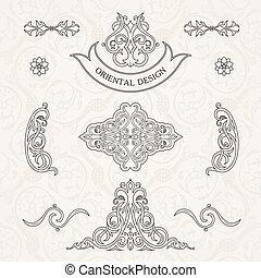 Vector set classic. Calligraphic design
