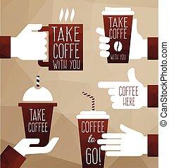 vector set coffee design elements