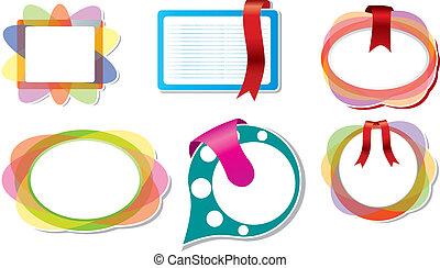 vector set: color paper