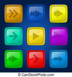 Vector set colorful buttons.