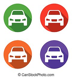 vector set colorful flat icons car
