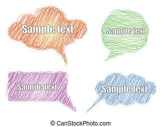 Vector set colorful scribble comic explosion - Set colorful ...