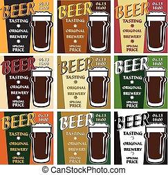vector set design beer tasting with special offer