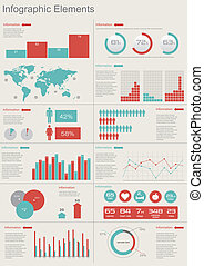 Vector Set elements of infographics World Map and...