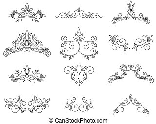 vector set - floral design elements