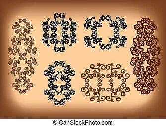 vector set - floral ornaments