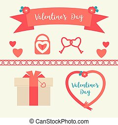 Vector set for Valentine`s day