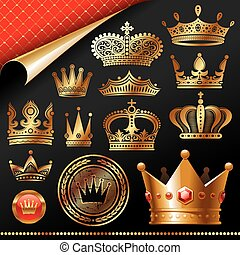 Vector set - Golden royal design element