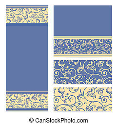 Vector set greeting or invitation cards.