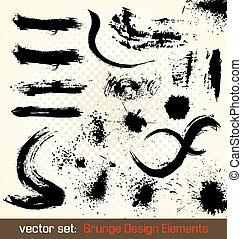 Vector Set. Grunge Design Elements