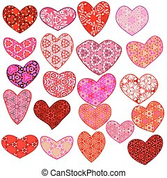 vector set hearts