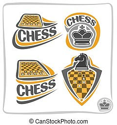 Vector set icons for Chess game
