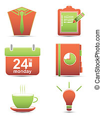 Vector set icons. time management business